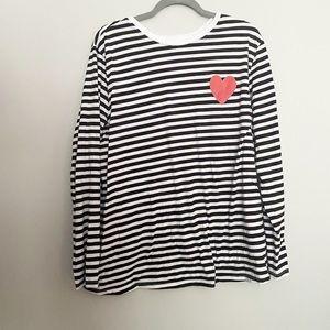 ASOS striped graphic long sleeve tshirt 14